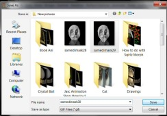 save has a gif in your folder